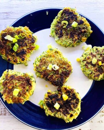 Egg Free Courgette & Sweetcorn Fritters