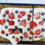 Dairy Free Strawberry & Blueberry Yoghurt Bark